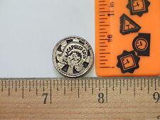 Acapuico Gold Pin ,  Cigarette , Tobacco Lapel Pin  (Silver Tone)