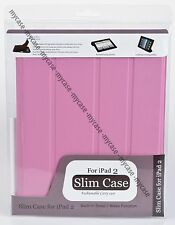 Smart Cover PU Leather Case Stand Magnetic With Back Case for iPad 2 Gen Pink