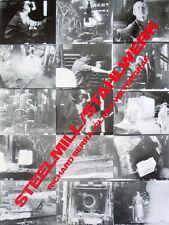 RICHARD SERRA - Steelmill at Castelli's ART PRINT Offset Lithograph 30x23 Poster