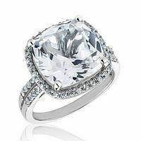 7CTW WHITE SAPPHIRE ENGAGEMENT  WEDDING ANNIVERSARY RING SZ 7  SEE STORE  SALES>
