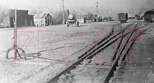 Southern Pacific (SP) NG 3-Way Switch at Keeler, CA in 1942 - 8x10 Photo