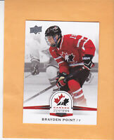 2014 UPPER DECK TEAM CANADA JUNIORS BRAYDEN POINT #40 TEAM CANADA / LIGHTNING