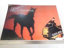 brochure poster originale Gilera R1 + gamma 1988 KK KZ RC Rally 250 etc depliant