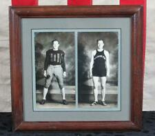 Vintage 1930s Williamsport HS Football/Basketball Photographs Antique Framed PA.