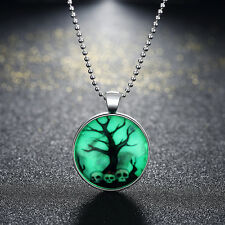 Women's Luminous Haloween Scary Patterned Necklaces Chain Pendant Party Jewelry