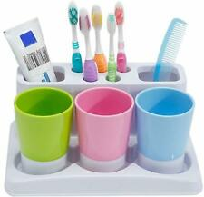 Toothbrush Toothpaste Holder Stand For Bathroom Storage Organizer Space Saver