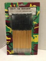 12 Pack Arrow For Crossbow PVC Bolt Body With Metal Point Head
