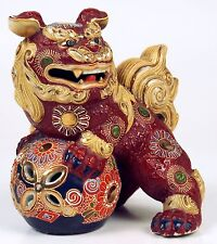 FOO DOG. GLAZED PORCELAIN AND GILDED. KUTANI. JAPAN. BEGINNING 20TH CENTURY.
