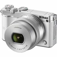 New Nikon 1 J5 Mirrorless Digital Camera with 10-30mm Lens - White