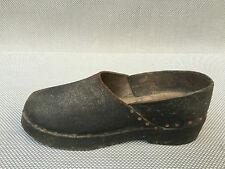 Antiguo zapatos de piel plantilla en madera para niños antiguo zapatos de piel