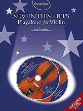 Guest Spot Seventies Hits For Violin Music Book / 2 X CDs