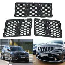Front Honeycomb Matte Mesh Grille Inserts Cover Trim Kit for JEEP Grand Cherokee
