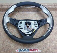NEW Genuine Saab 9-5 Aero Steering Wheel (2006-2009) OEM Leather 3-Spoke