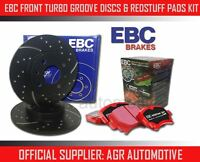 EBC FRONT GD DISCS REDSTUFF PADS 256mm FOR AUDI 80 1.6 TD AUTO 1989-90