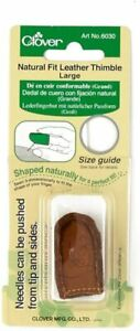 Clover Natural Fit Leather Thimble: Large
