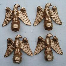 4 Metal mantle clock finials-Eagle .Clock parts.Metal furniture decorations