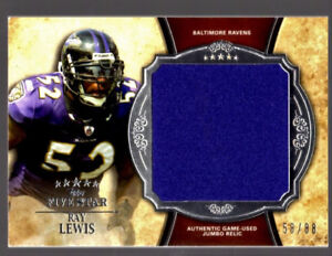 Ray Lewis RAVENS 2011 Topps Five Star GAME-WORN JERSEY #d 58/88