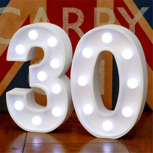 Number LED Light Night Lamp For Birthday Party Bar Home Decoration 10 Options