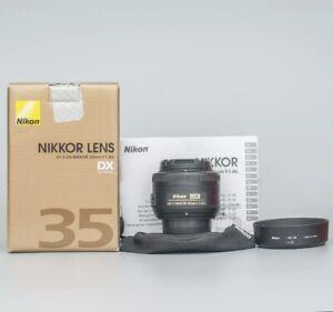 Nikon AF-S 35mm F1.8 G DX - Nikkor Lens + Front & Rear Cap -