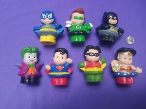 Fisher Price Little People DC Super Heroes Figures Seven Pc Lot