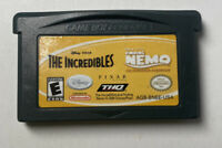 The Incredibles Finding Nemo Disney Pixar Game Boy Advance Nintendo Cartridge