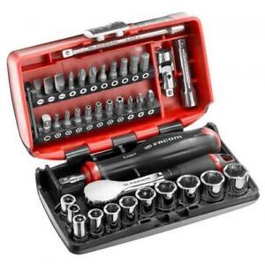 "Facom R.181NANO 1/4"" Drive High Precision Ratchet, Socket & Bit Set 5.5-14mm"
