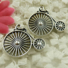 Free Ship 25pcs Antique silver wheelchair charms 26x30mm H-4758