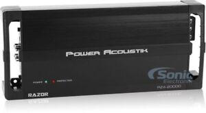 Power Acoustik RZ4-2000D 2000 Watt RMS 4-Channel Class D Car Amp Audio Amplifier