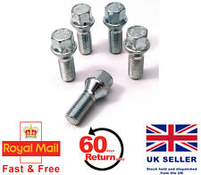 Audi A5 S5 RS5 aftermarket alloy wheel bolts. M14 x 1.5, Taper set of 5