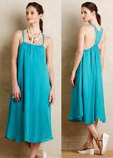 ANTHROPOLOGIE NWT Verano Dress Racerback Turquoise Blue Crochet Back Sz M $148