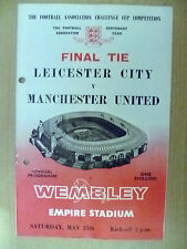 1963 FA Cup FINAL - LEICESTER CITY v MANCHESTER UNITED, 25 May (Org*)