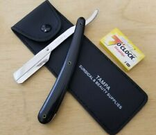 Barber Cut Throat Straight Razor Beard Shaving Knife Stainless Steel with Blades