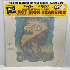 Acid Trip CHERRY PIE FACE 1974 Iron On Transfer SEALED Package Rats Hole