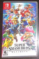 Super Smash Bros. Ultimate (Nintendo Switch, 2018) Game card.