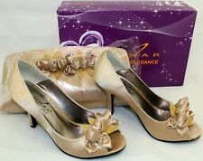 Lunar Elegance Gold Shoes & Matching Bag Size UK3 / EU36 NEW, BOXED