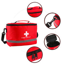 Grandes Rojo Nylon Ripstop Bolsa De Kit De Primeros Auxilios Deportes al Aire Libre Casa Medical