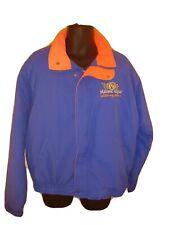Maxwell Vintage NASCAR Racing Team Bomber Jacket Coat XL Colorblock USA Blue