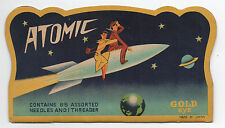 1950s Atomic Needle Book Case with Nice Spaceship Graphics Made in japan