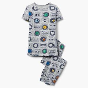 NWT Gymboree Boy Cassette Gymmies Pajama Gray SET Many Sizes