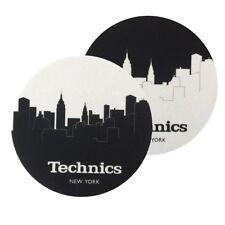 Pair Felts Anti-static Wipes x Record Player Slipmats Technics Skyline New York