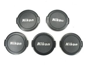 Lot Of 5x Nikon 52mm Black / Silver Front Camera Lens Cap For Ai Ai-S AF AF-S
