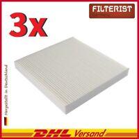 3x Filteristen Innenraumfilter Pollenfilter Honda Accord, Legend, CR-V, Civic