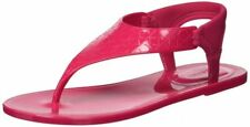 size 9 Calvin Klein Janny CK Jelly Hibiscus Pink Thong Flat Sandals Womens Shoes