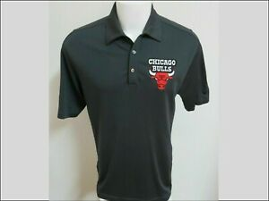 Sz M-2XL Gray Bulls Nike Dri-Fit Mens Polyester #30L Golf Polo Shirt
