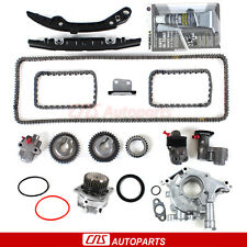 Timing Chain Kit+Water Pump+Oil Pump for Infiniti Nissan 3.5L V6 VQ35DE Engine