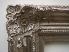 Wide Ornate Warm Champagne Silver Antique Style Picture Mirror Art Frame 24x30