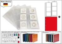 5 look 1 7390 R Feuilles Numismatiques Premium 6x 67x67 mm + Rouge Zwl pour