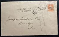1892 Winnipeg Canada Returned To Sender  Cover To Roslyn