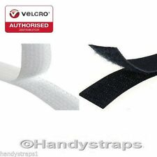 VELCRO® Brand 25mm Sew on Tape Black or White Hook & Loop Tape for Fabric