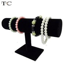 Jewelry Display Hard Stand Bracelet Chain Bangle Watch T-bar Rack Black Holder